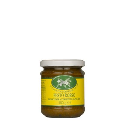Picture of Red pesto sauce in extra virgin olive oil